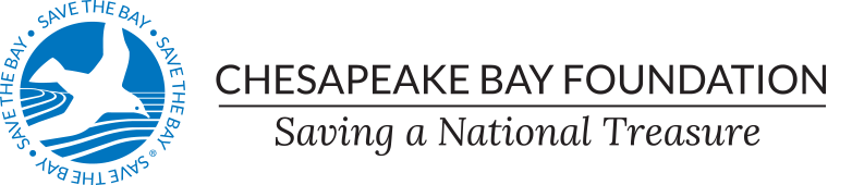 An image of the Chesapeake Bay Foundation logo that links to the Chesapeake Bay Foundation  website.