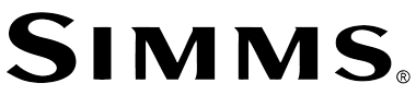 An image of the Simms Fishing Logo with link to the Simms fishing website  page